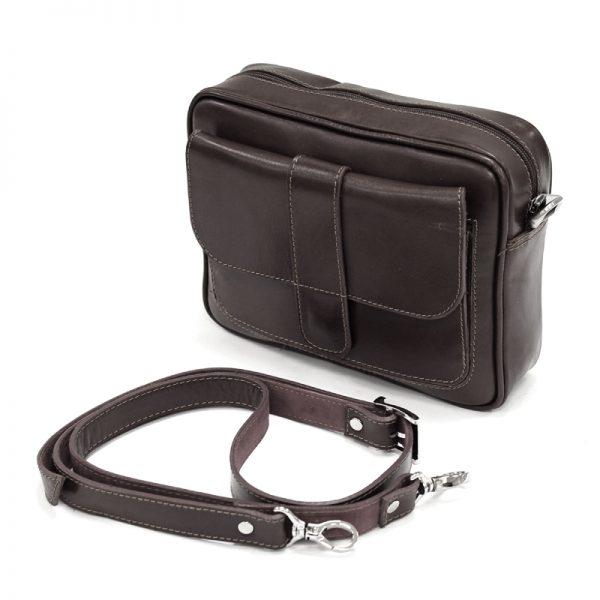 کیف دوشی زنانه چرم طبیعی آروین چرم کد AR-117
