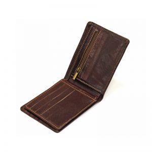 کیف پول جیبی مردانه چرم طبیعی آروین چرم کد AR-227