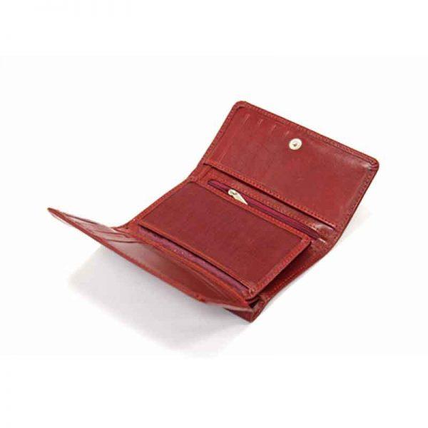 کیف پول زنانه چرم طبیعی آروین چرم کد AR-230