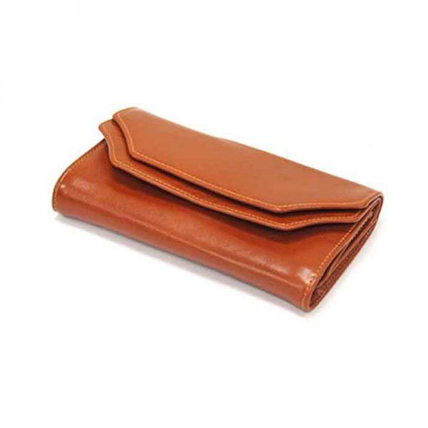 کیف پول زنانه چرم طبیعی آروین چرم کد AR-238
