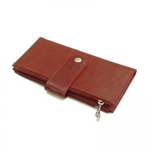 کیف پول زنانه چرم طبیعی آروین چرم کد AR-239