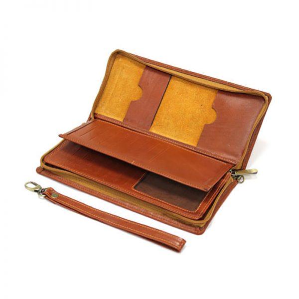 کیف پاسپورتی چرم طبیعی آروین چرم کد AR-710