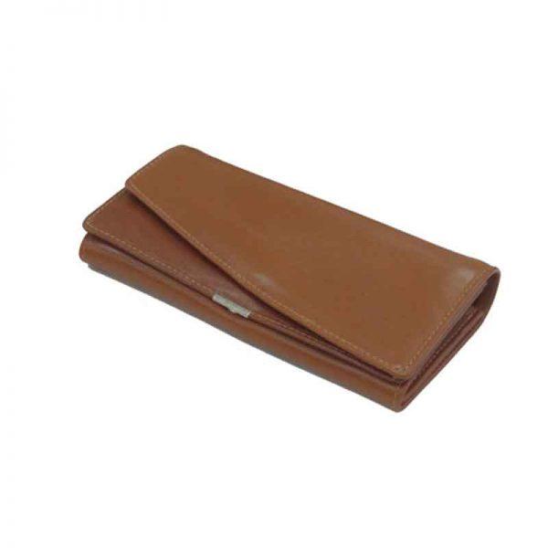 کیف پول زنانه چرم طبیعی آروین چرم کد AR-202