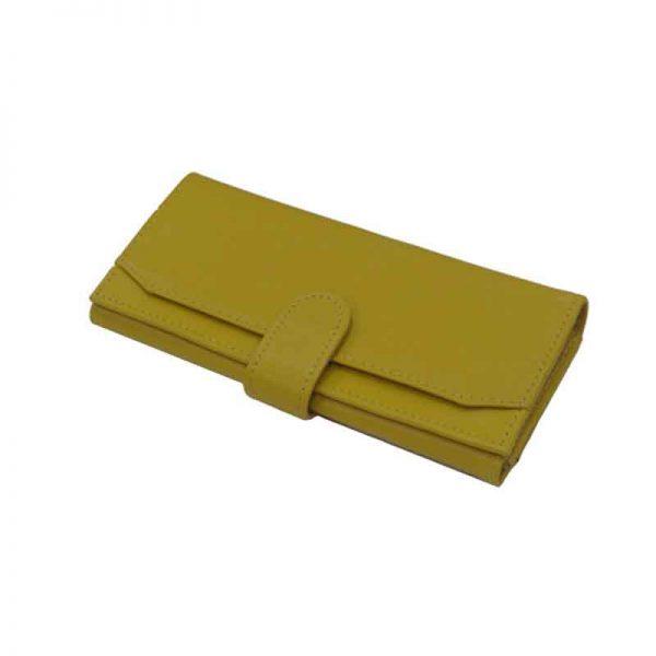 کیف پول زنانه چرم طبیعی آروین چرم کد AR-229