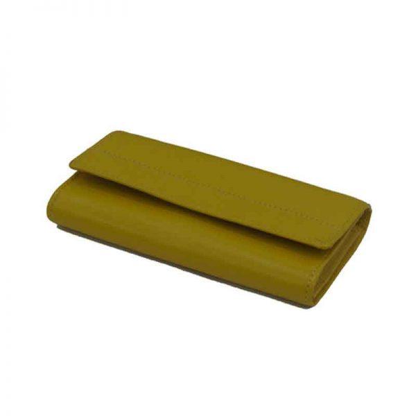 کیف پول زنانه چرم طبیعی آروین چرم کد AR-201