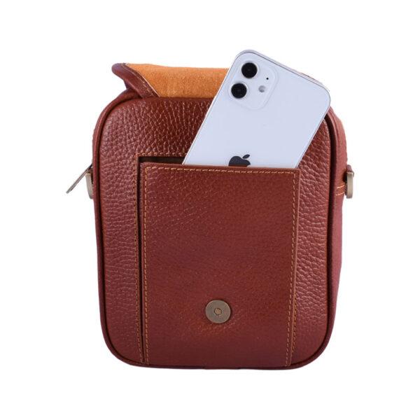 کیف دوشی چرم طبیعی آروین چرم کد AR-138
