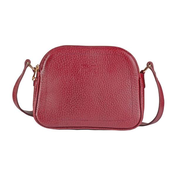کیف دوشی زنانه چرم طبیعی آروین چرم دونه اناری کد AR-153