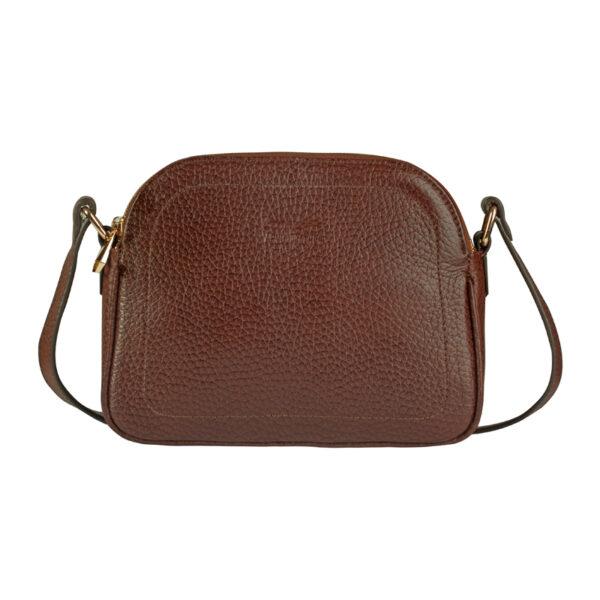 کیف دوشی زنانه چرم طبیعی آروین چرم گردویی کد AR-153