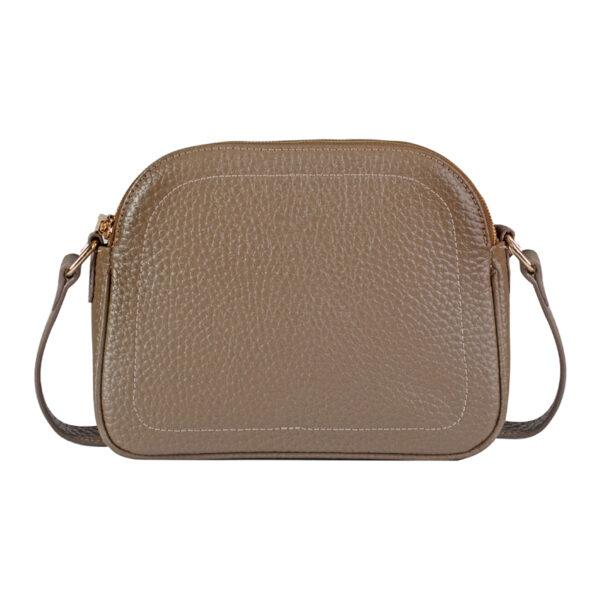 کیف دوشی زنانه چرم طبیعی آروین چرم طوسی کد AR-153