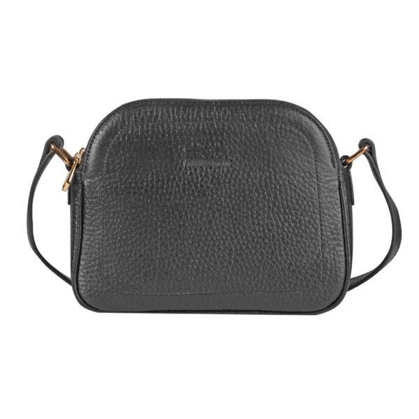 کیف دوشی زنانه چرم طبیعی آروین چرم مشکی کد AR-153
