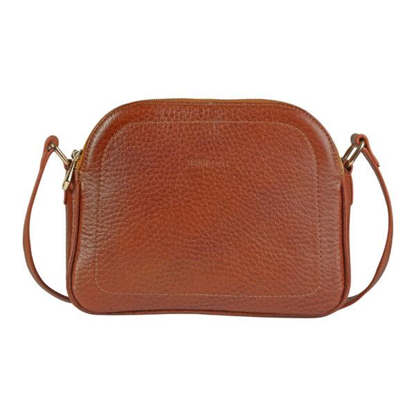کیف دوشی زنانه چرم طبیعی آروین چرم عسلی کد AR-153 (2)