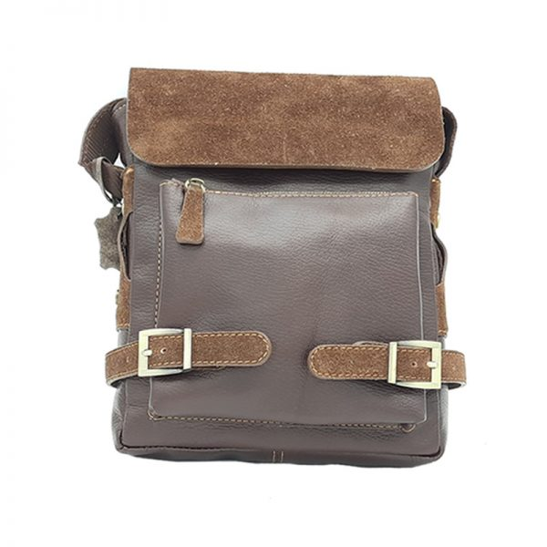 کیف دوشی چرم طبیعی آروین چرم کد AR-170