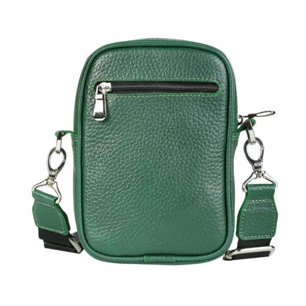 کیف دوشی اسپرت چرم طبیعی آروین چرم سبز کد AR-131