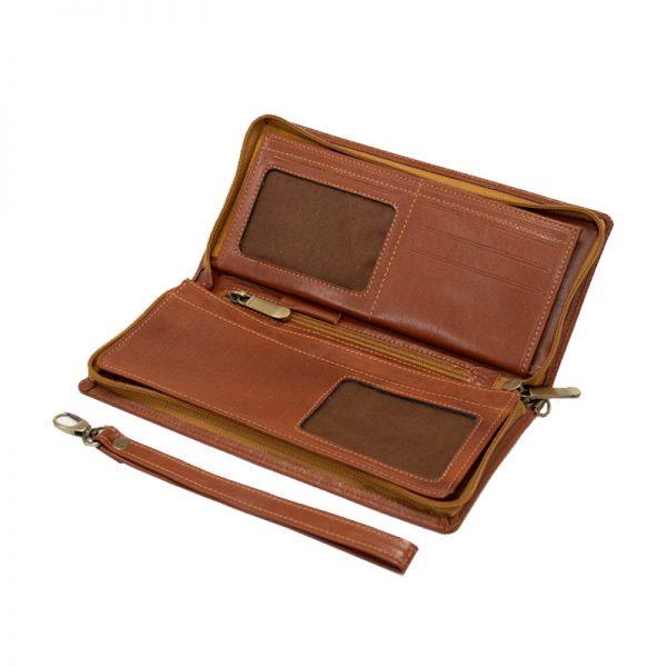 کیف پاسپورتی چرم طبیعی آروین چرم کد AR-711
